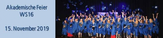 Akademische Feier des Wintersemesters 2016 mit 95 Absolventen und 430 Gästen