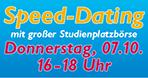 Direkt anmelden! 07.10. Speed-Dating mit großer Studienplatzbörse