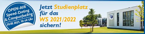 Jetzt anmelden: 20. März – Speed-Dating & Campusfeeling mit Open-Air-Studienplatzbörse